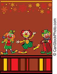 Clowns frame.