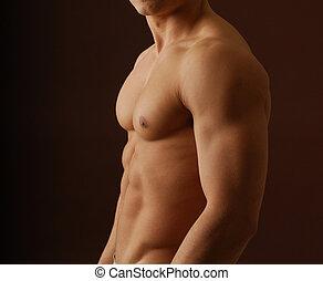 Sexy, desnudo, hombre