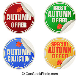 Best autumn offers stickers set