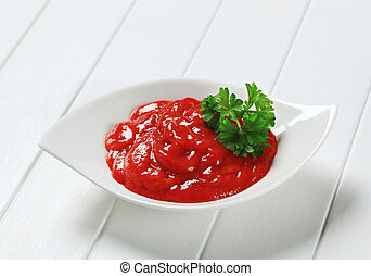 Hot sauce in a bowl
