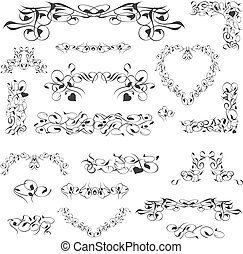 flower vintage royal design element isolated on white. Vector