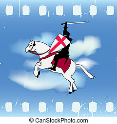 Film Knight - Vector illustration with a Horse Knight...