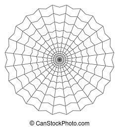 cobweb isolated on white vector illustration