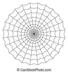 cobweb isolated on white vector illustration