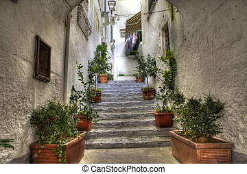 Tipical alley of Amalfi SA