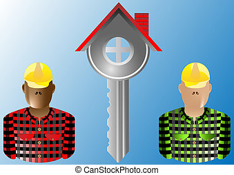 key house and builder real estate
