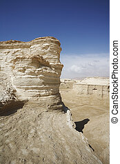 The sandstone in the desert