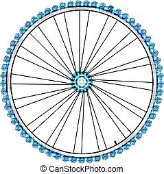 Bike wheel isolated on white background vector illustration