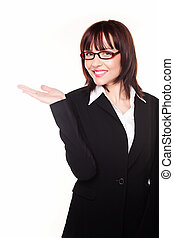 Businesswoman With Open Palm