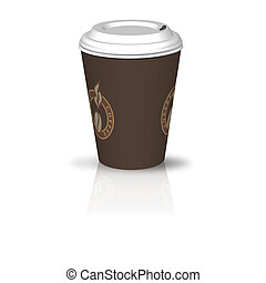 kaffeebecher - illustration of a coffee to go