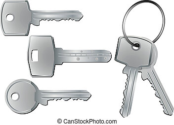 keys - illustration of different kind of keys with and...