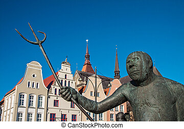 Sculpture in Rostock (Germany).