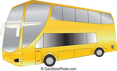 Double Deck Coach - A Luxury Long Distance Double Deck Coach...