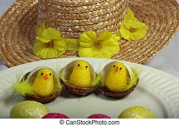 3 chicks for Easter