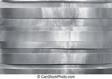 Shiny metal strips