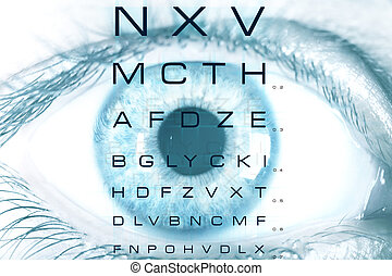 Test vision chart - Eye macro with test vision chart
