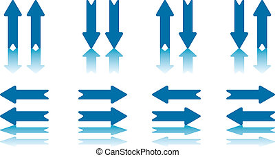 Arrow Pairs Collection - Collection of 8 Arrow Pairs With...