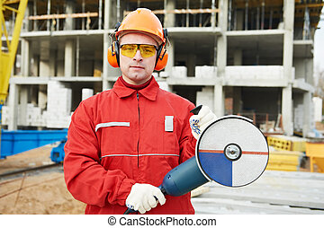builder worker at construction site