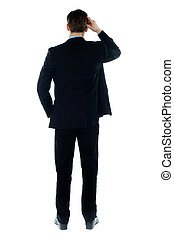 Back-pose of a corporate person standing - Back-pose of a...