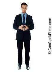 Smiling young confident executive - Confident executive...