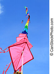 Colorful kites in the 12th Thailand International Kite...