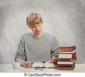 閱讀, 年輕, 成人
