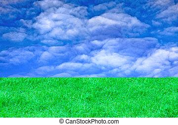 verde, pasto o césped, cielo, paisaje