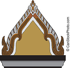 Thai pattern graphic - The lined ornaments of Thai...