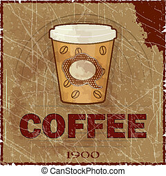 Grunge Cover for Coffee Menu