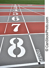 Finish line - Macro running track finish line