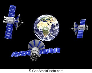Artifical satellite earth