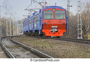 Modern electric train - Photo of modern electric train on...