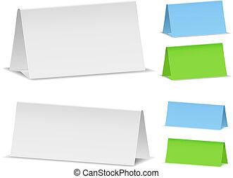Blank Desk Calendars, vector eps10 illustration