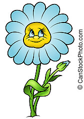 Daisy Flower - Cartoon Illustration, Vector