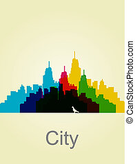 The city wall abstract illustration Vector Background