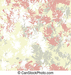 Seamless vector texture with flowers