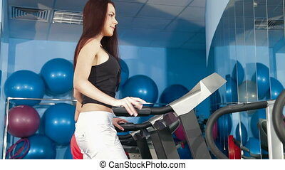 Treadmill Workout In The Gym