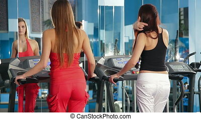 Treadmill Exercise At The Gym
