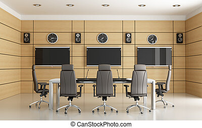 conference room for video conference - rendering