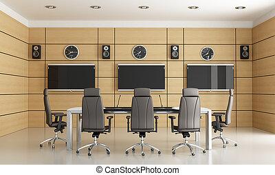 conferencia, habitación