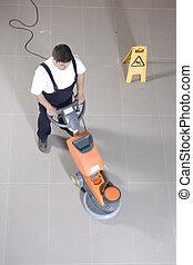 清掃, 地板, 機器