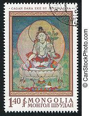 Cagan Dara Eke - MONGOLIA - CIRCA 1968: stamp printed by...