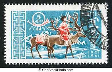 postman on reindeer
