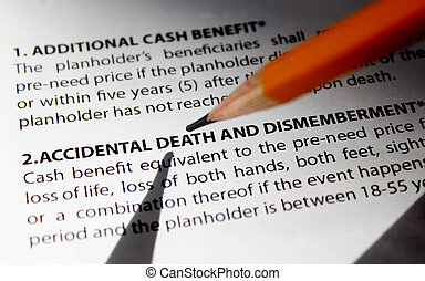 Insurance Plan - Accidental Death Insurance contract...