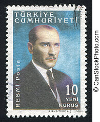 Kemal Ataturk - TURKEY - CIRCA 2005: stamp printed by...