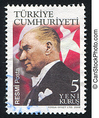 Kemal Ataturk - TURKEY - CIRCA 2008: stamp printed by...