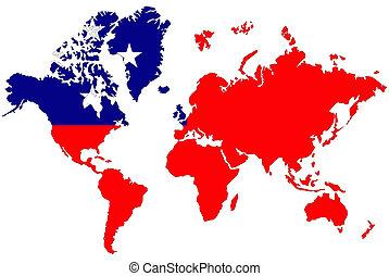 mappa, Simbolo,  Samoa, Occidentale, bandiera