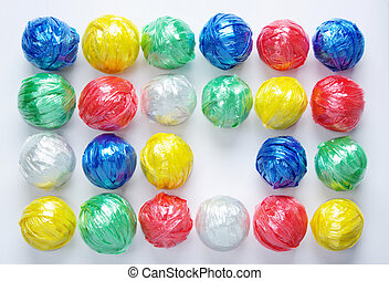 Plastic Rope Recycle - Colorful Ball Creativity by Plastic...