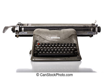 old typewriter - very old typewriter on white background