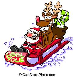 rudolf, amusement,  wbg, avoir,  Santa